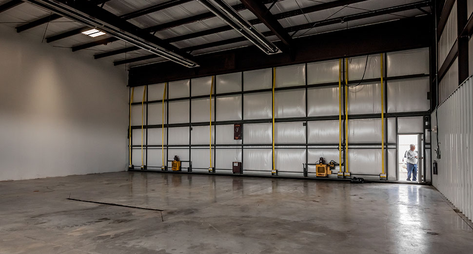 hangar interior for scale